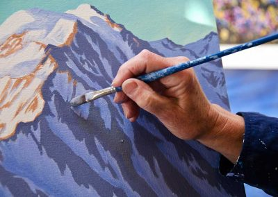 Artist at work - Courtesy of Government of Yukon