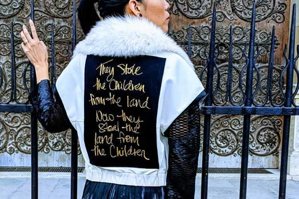 """Sholeen Esquiro - """"They Stole the Children from the Land, now they Steal the Land from the Children"""""""