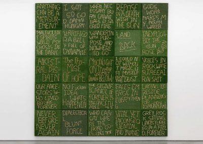 Joseph Tisiga - Untiled series of 25 astroturf panels
